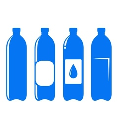Water bottle set vector