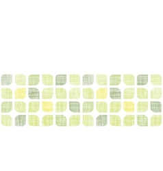Abstract textile green rounded squares horizontal vector