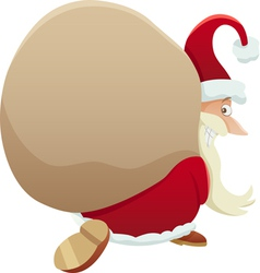 Santa with sack cartoon vector