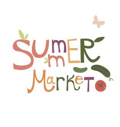 Summer market design vector