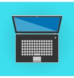 Black isolated laptop front side vector