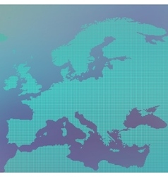 Europe map in the dot on blue background vector