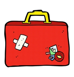 Comic cartoon luggage vector