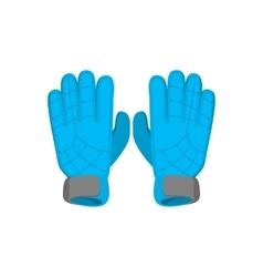 Gloves goalkeeper cartoon icon vector image