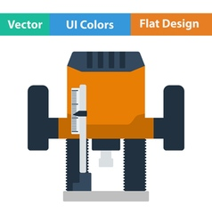 Flat design icon of plunger milling cutter vector