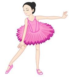 Ballerina posing vector