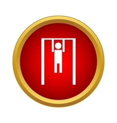 Man exercising on the horizontal bar icon vector