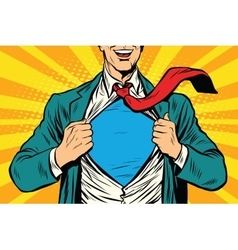 Super hero male businessman vector