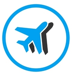 Airlines circled icon vector