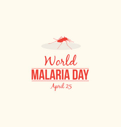 Background for world malaria day style vector
