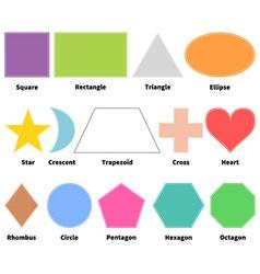 Basic shapes for kids vector