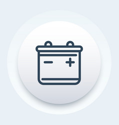 Battery line icon pictogram vector