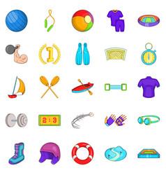 Best goal icons set cartoon style vector