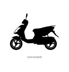Black silhouette of city motorcycle vector