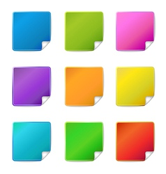 blank sticker icons vector image