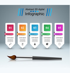 brush icon business infographics vector image vector image
