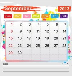 Calendar september 2013 vector