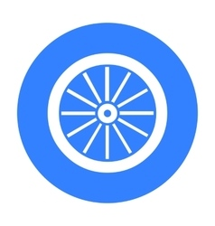 Cart-wheel icon black singe western icon from the vector