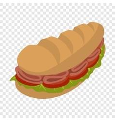 Cartoon submarine sandwich vector