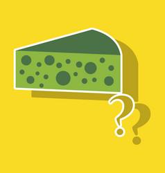 cheese icon sticker symbol for web logo vector image vector image