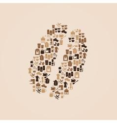 Coffee icons like coffee bean eps10 vector