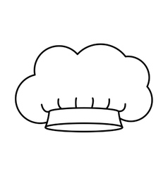 Contour of chefs hat in cloud shape vector