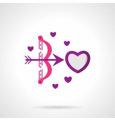 Cupids shot bright flat icon vector