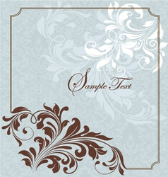 decorative floral background vector image vector image