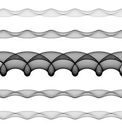 Elliptical page text divider line set vector
