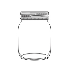hand drawn jar vector image vector image