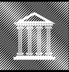 Historical building icon vector