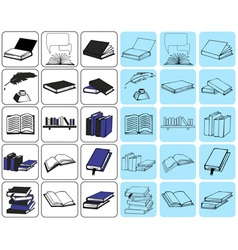 icons book vector image