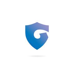letter g logo design template elements shield vector image