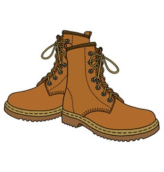 Light leather boots vector image vector image