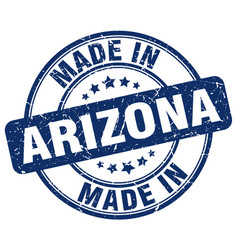 Made in arizona blue grunge round stamp vector