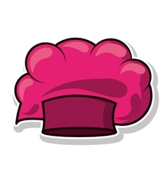 Magenta silhouette with chefs hat vector