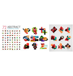 mega collection of abstract infographic paper vector image