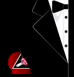 Mens suit the tuxedo jewelry business card vector