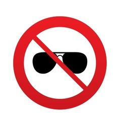 No aviator sunglasses sign icon pilot glasses vector