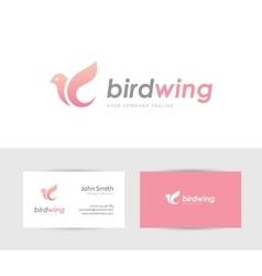 Pink bird logo vector image