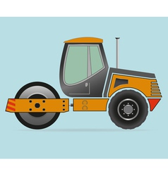 Road roller isolated on background vector