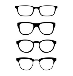 set of glasses isolated on white background vector image