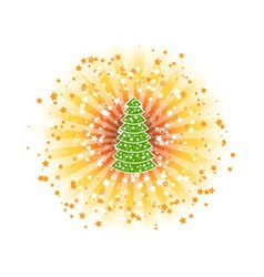 shine tree vector image vector image
