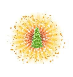 shine tree vector image