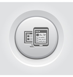 Shop APP Icon Grey Button Design vector image