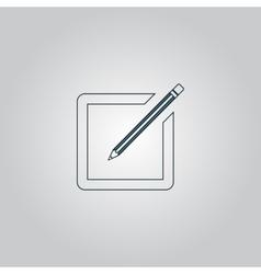 Simple registration icon vector