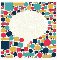 Social media talk bubble texture vector image