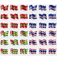 Transnistria cape verde togo thailand set of 36 vector