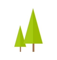 Trees in Flat Design vector image vector image
