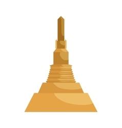 Asian temple icon cartoon style vector image